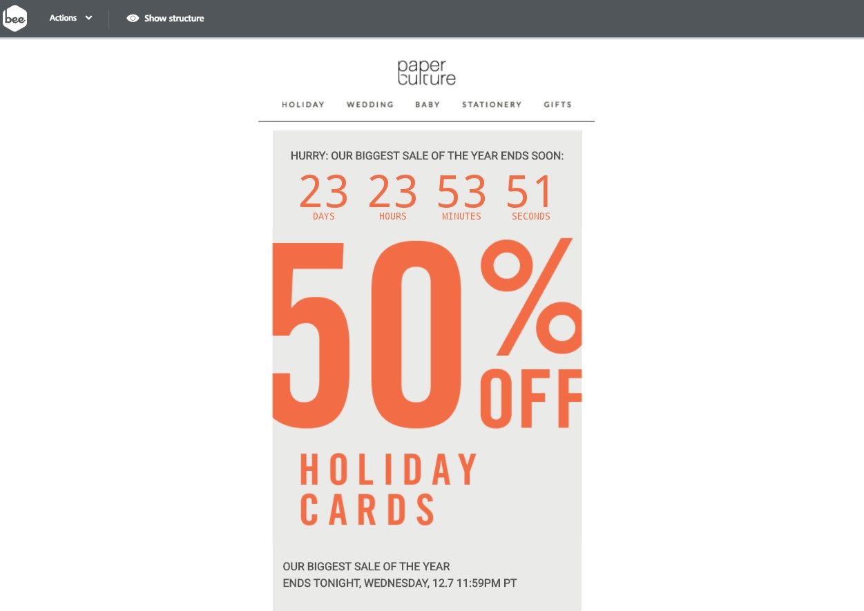 Add Christmas Countdown Timers To Emails In 2 Steps - Email