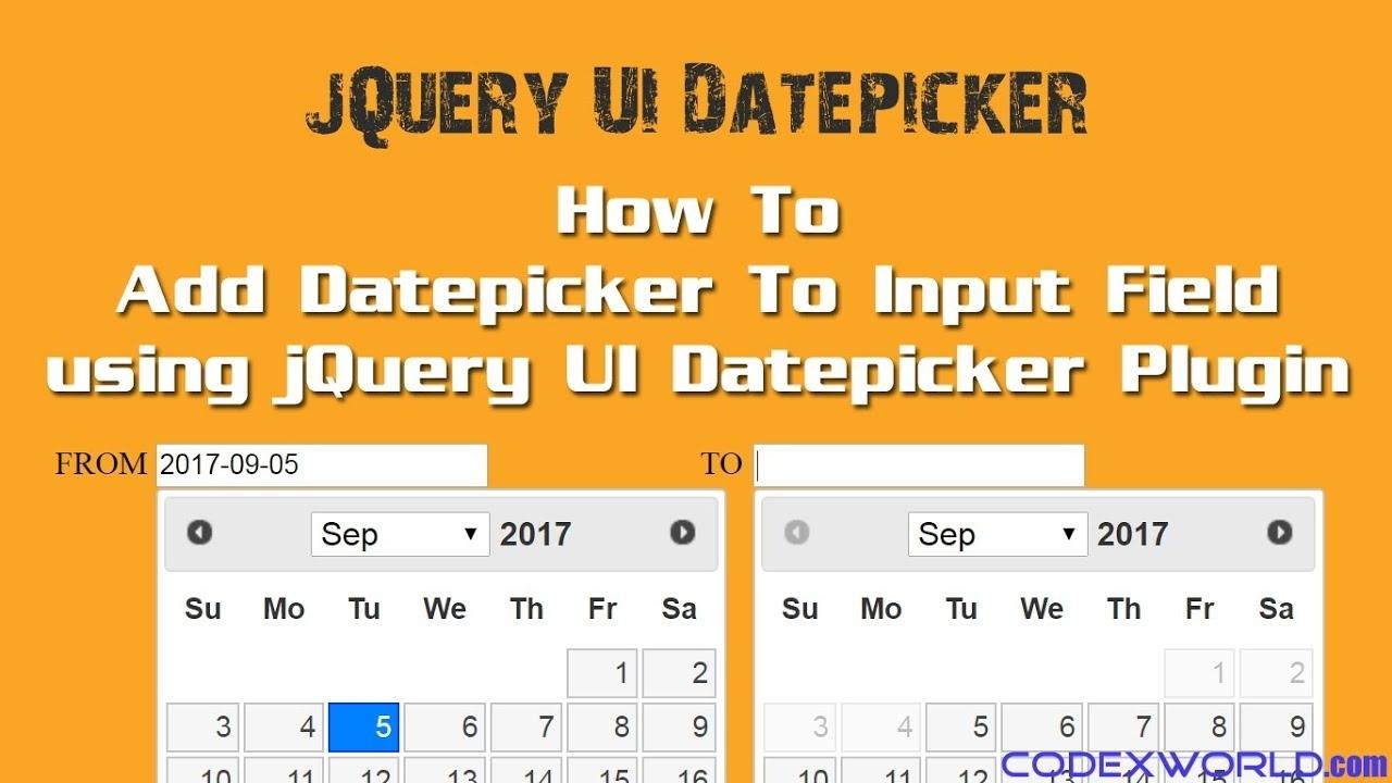 Add Datepicker To Input Field Using Jquery Ui