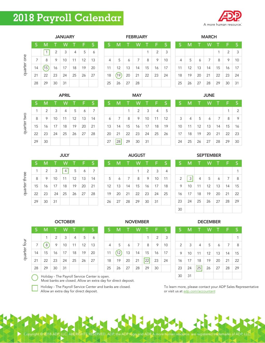 Adp 2021 Payroll Calendar | Payroll Calendar 2020