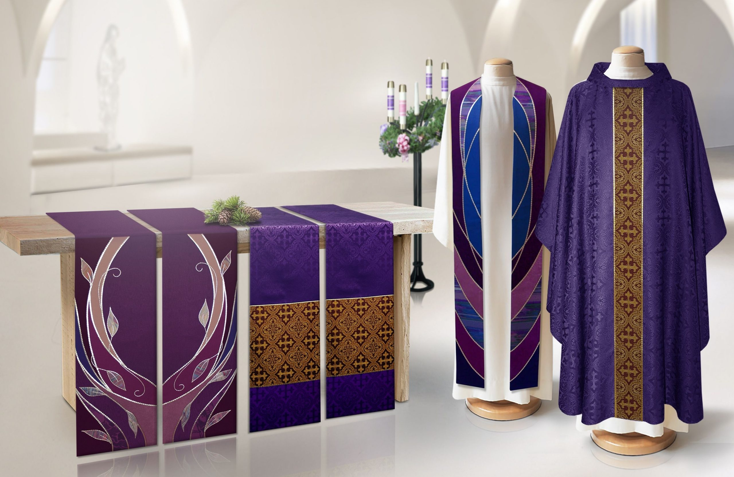 Advent Altar Parament And Vestment Collection | Church