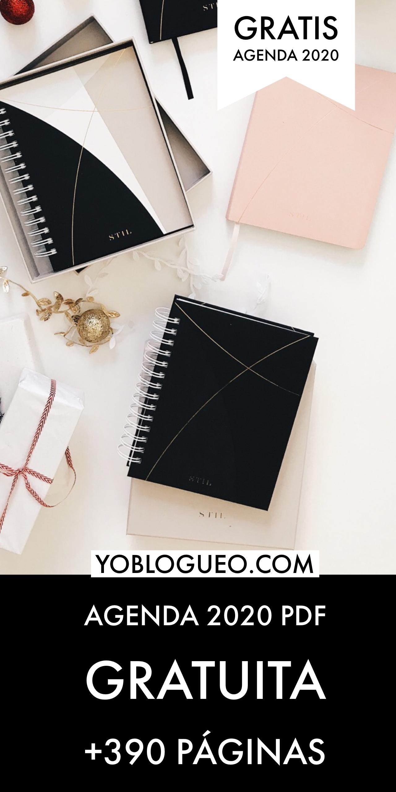 Agenda 2020 Imprimible Gratis Con Más De 390 Páginas | Yo