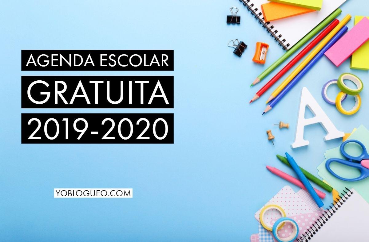 Agenda Escolar Gratuita 2019-2020 En Pdf Para Descargar