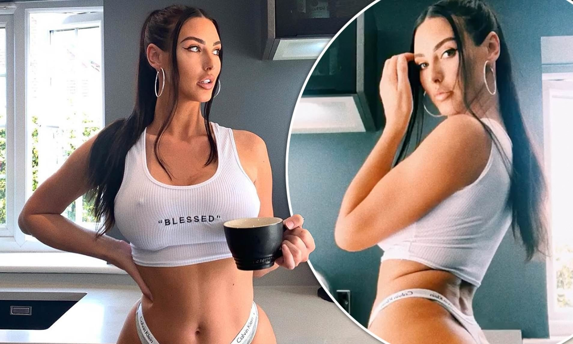 Alice Goodwin Shares Very Sexy Selfies In Crop Top And Thong