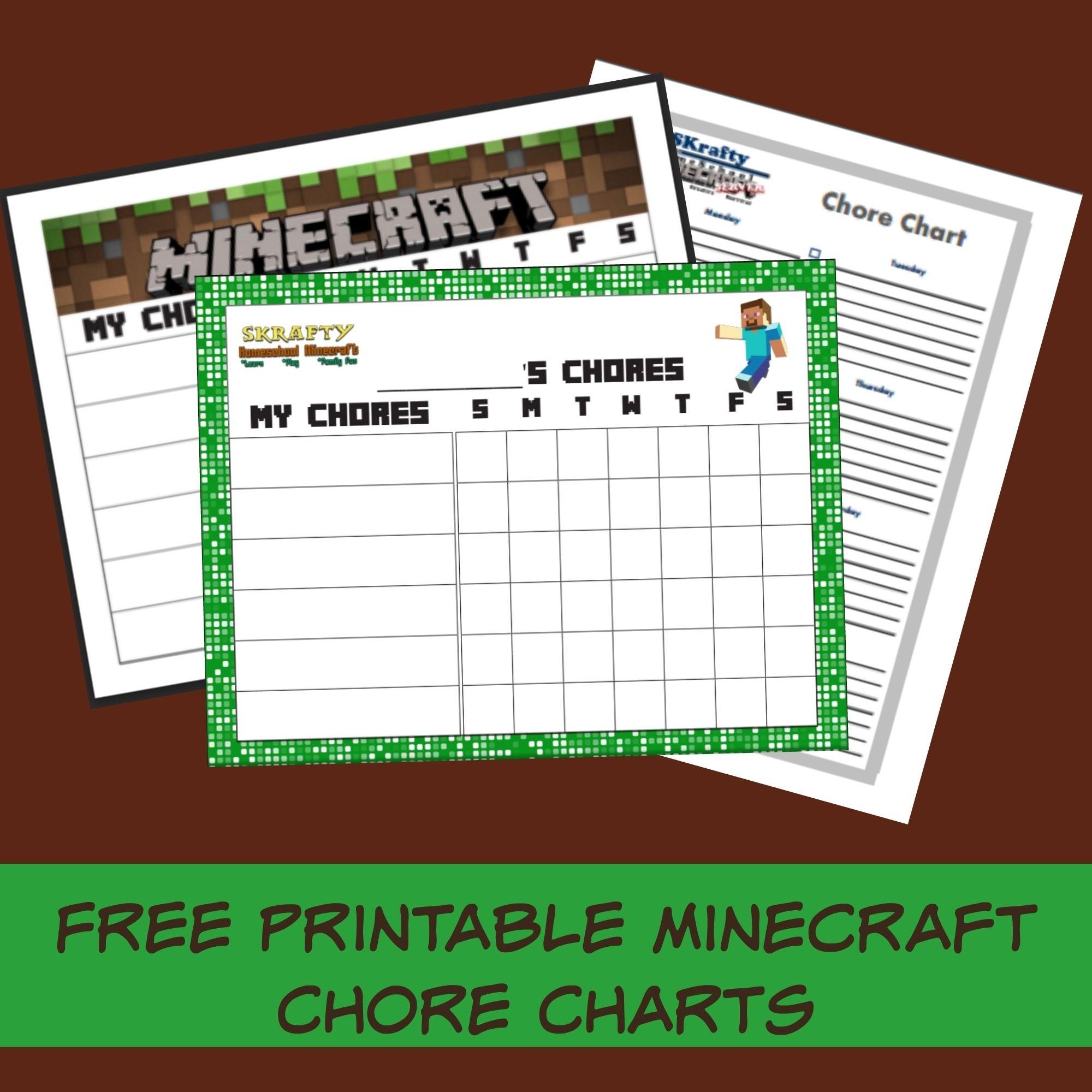Announcing Skrafty Minecraft Chore Rewards Plus Free