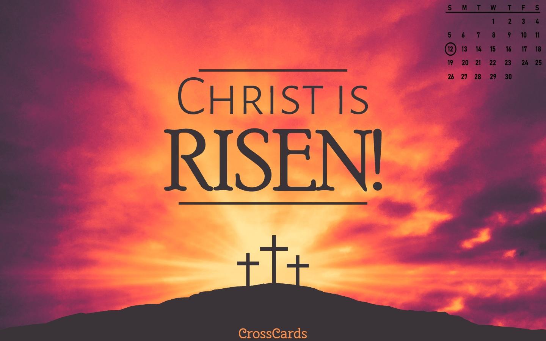 April 2020 - Christ Is Risen! Desktop Calendar- Free April