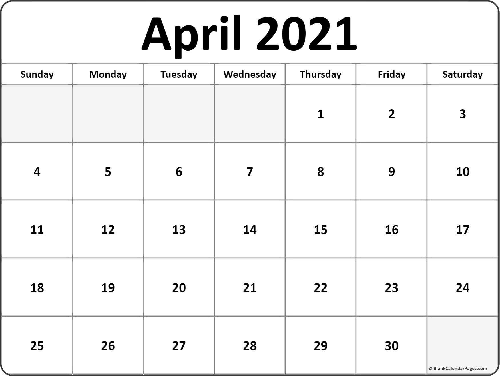 April 2021 Calendar January 2021 Calendar July 2021 Blank