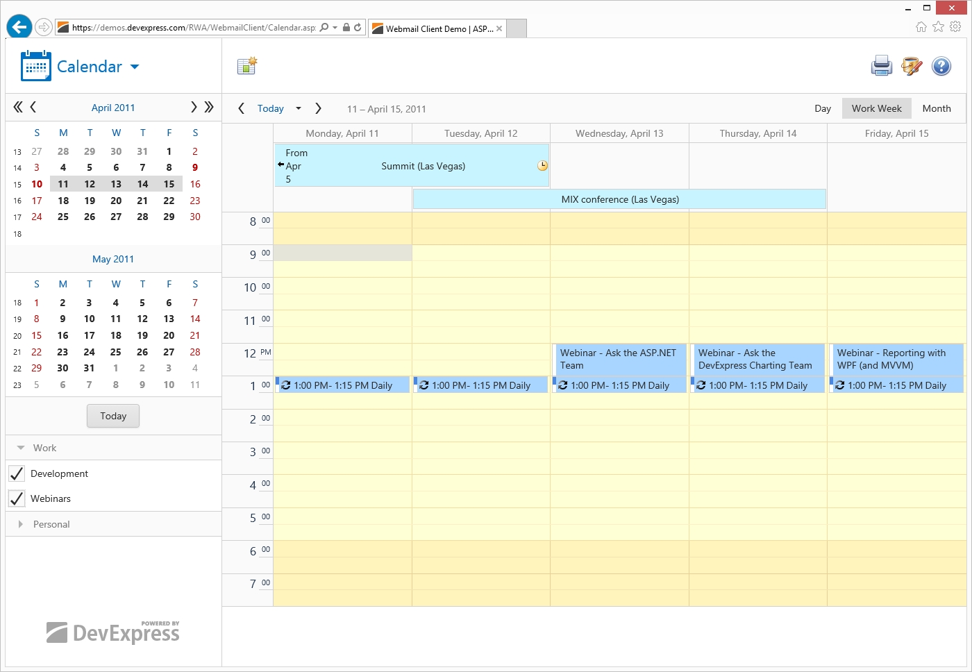 Asp Scheduler - Web Forms And Mvc | Devexpress