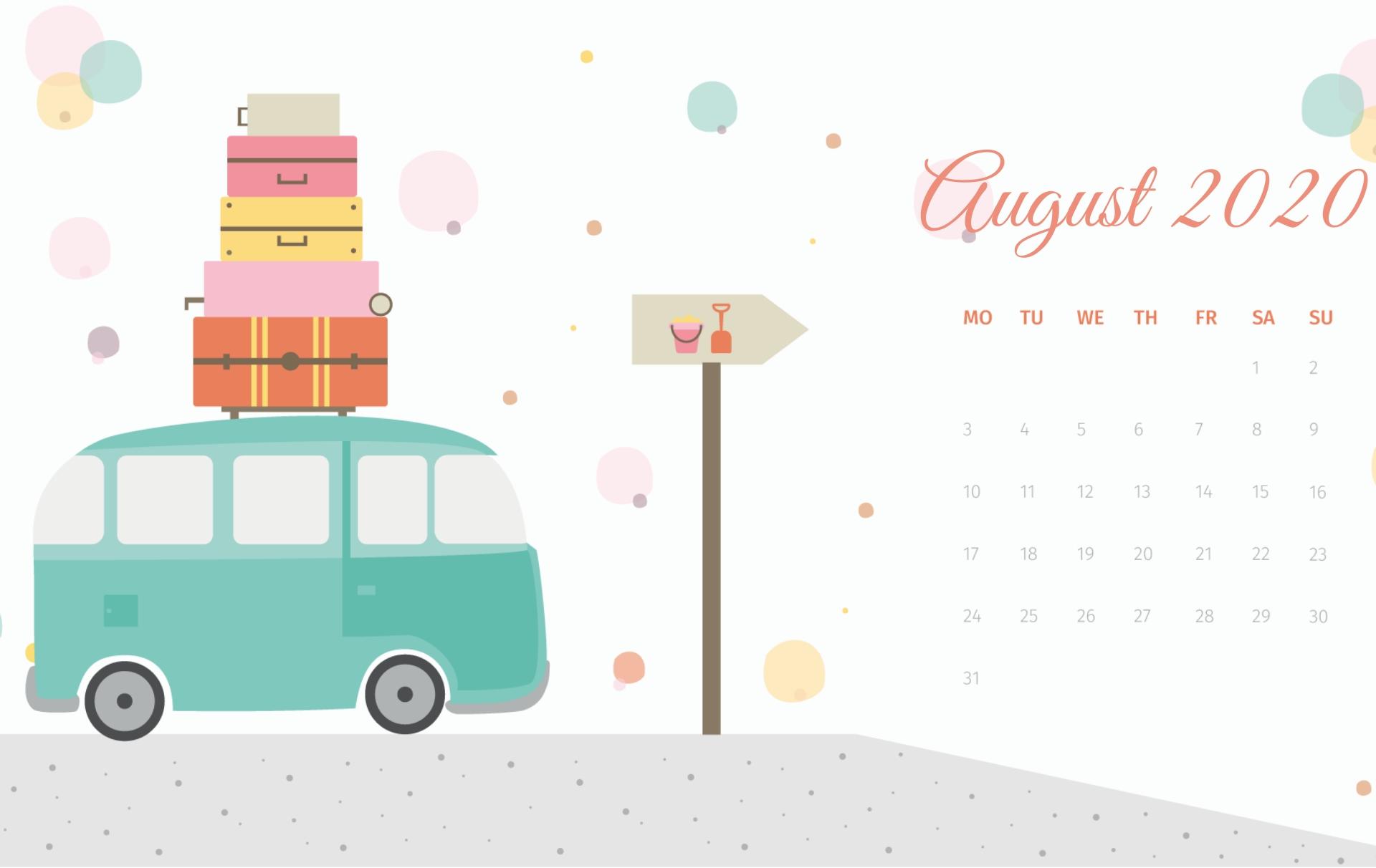August 2020 Calendar Hd Wallpapers | Calendar 2020 In 2020