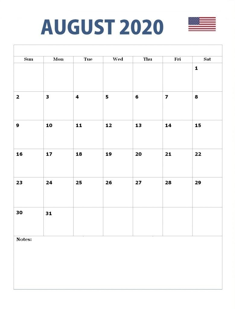 August 2020 Usa Holidays Calendar | Usa Holidays, Holiday
