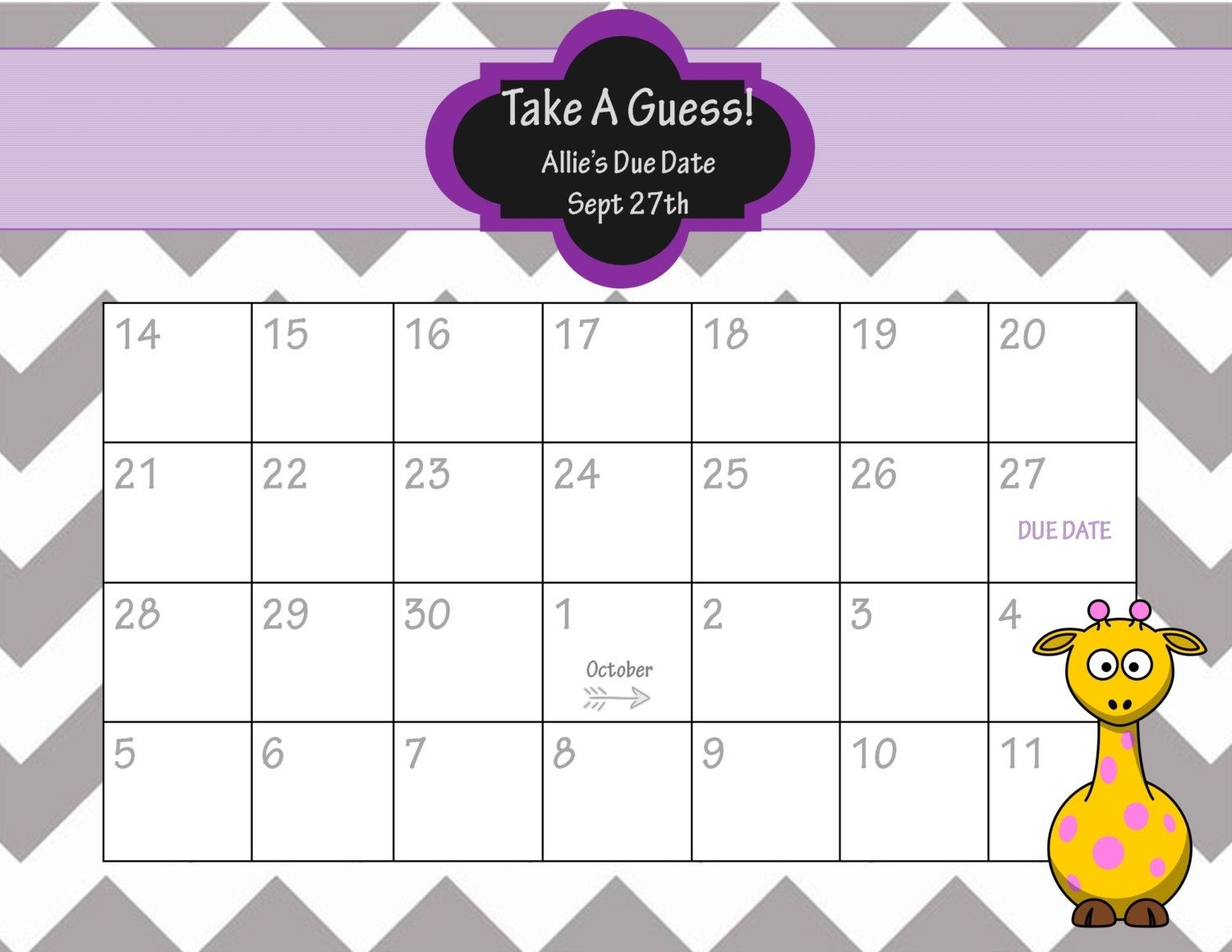 Baby Pool Template Printable - Google Search   Baby Due Date