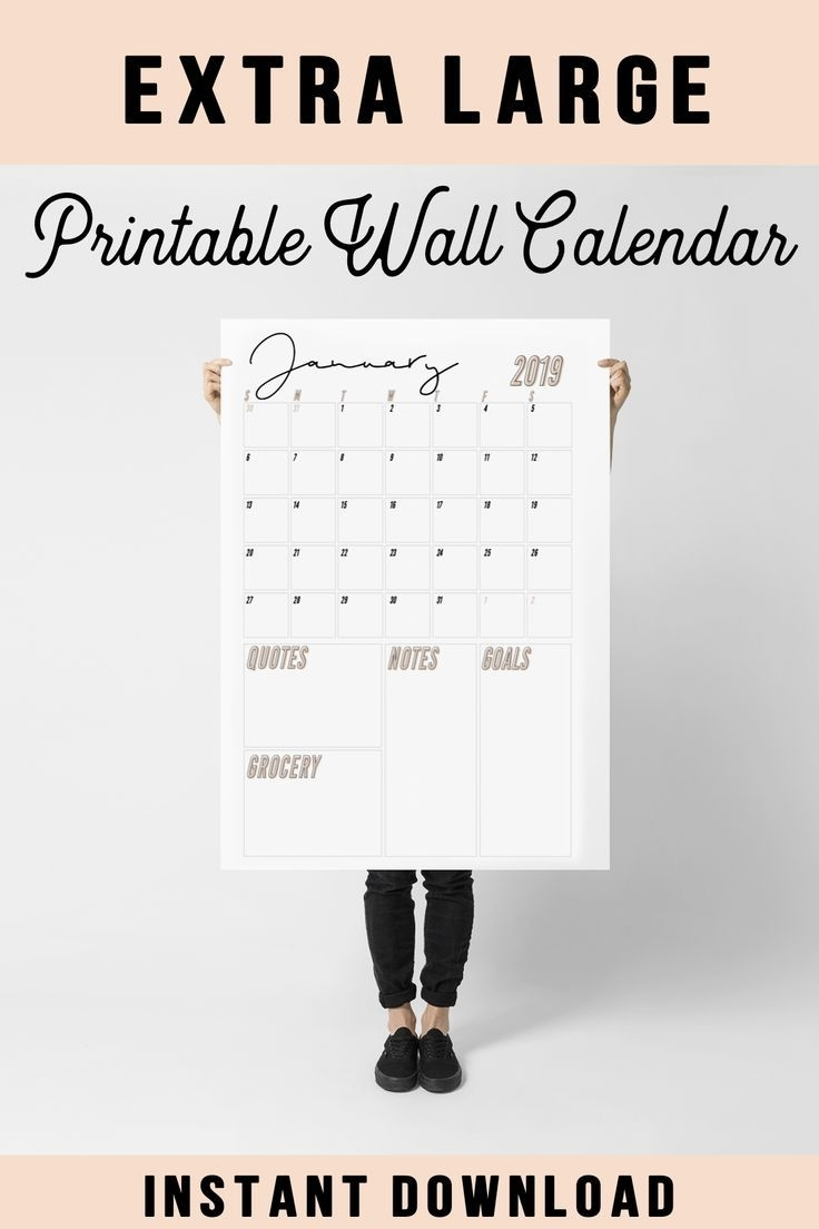 Best Cost-Free Large Calendar Printables Thoughts | Large