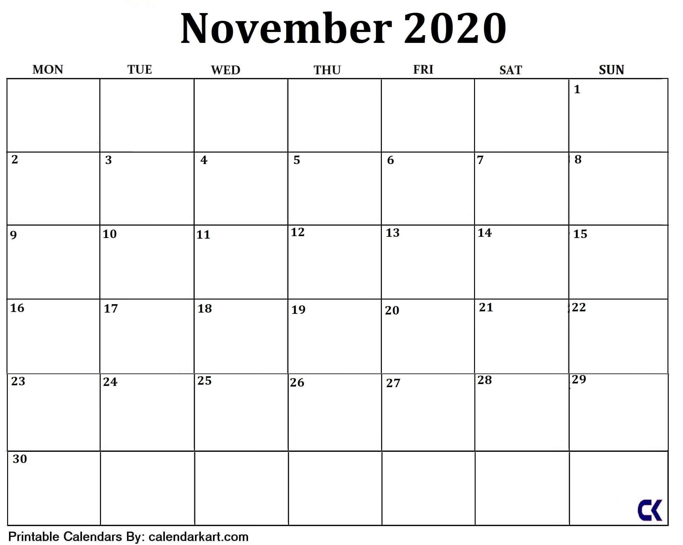 Best Free Printable Calendar Large Blocks In 2020