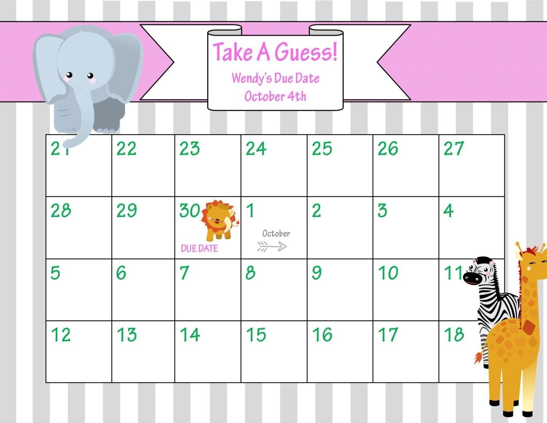 Best Of Printable Due Date Calendar | Free Printable