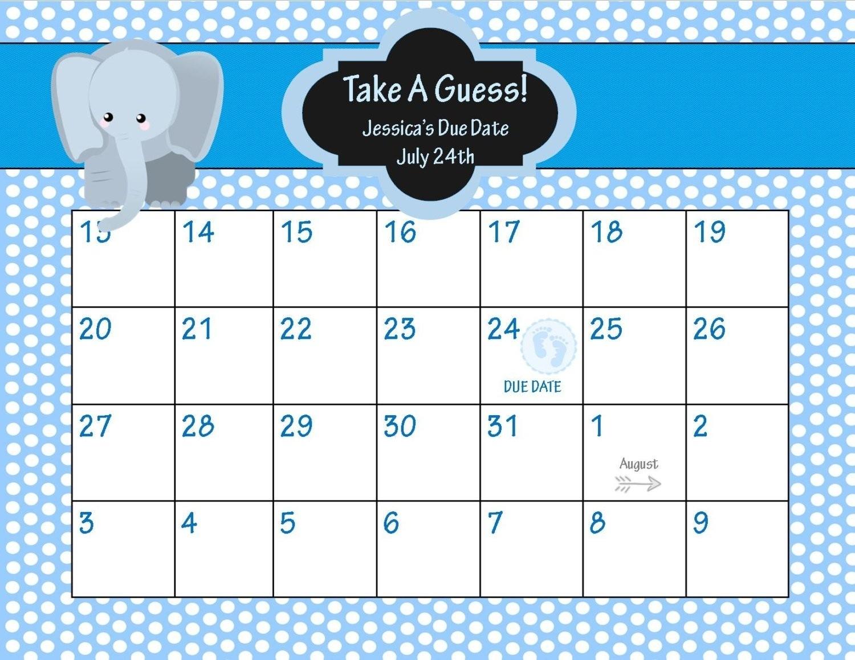 Best Of Printable Due Date Calendar   Free Printable