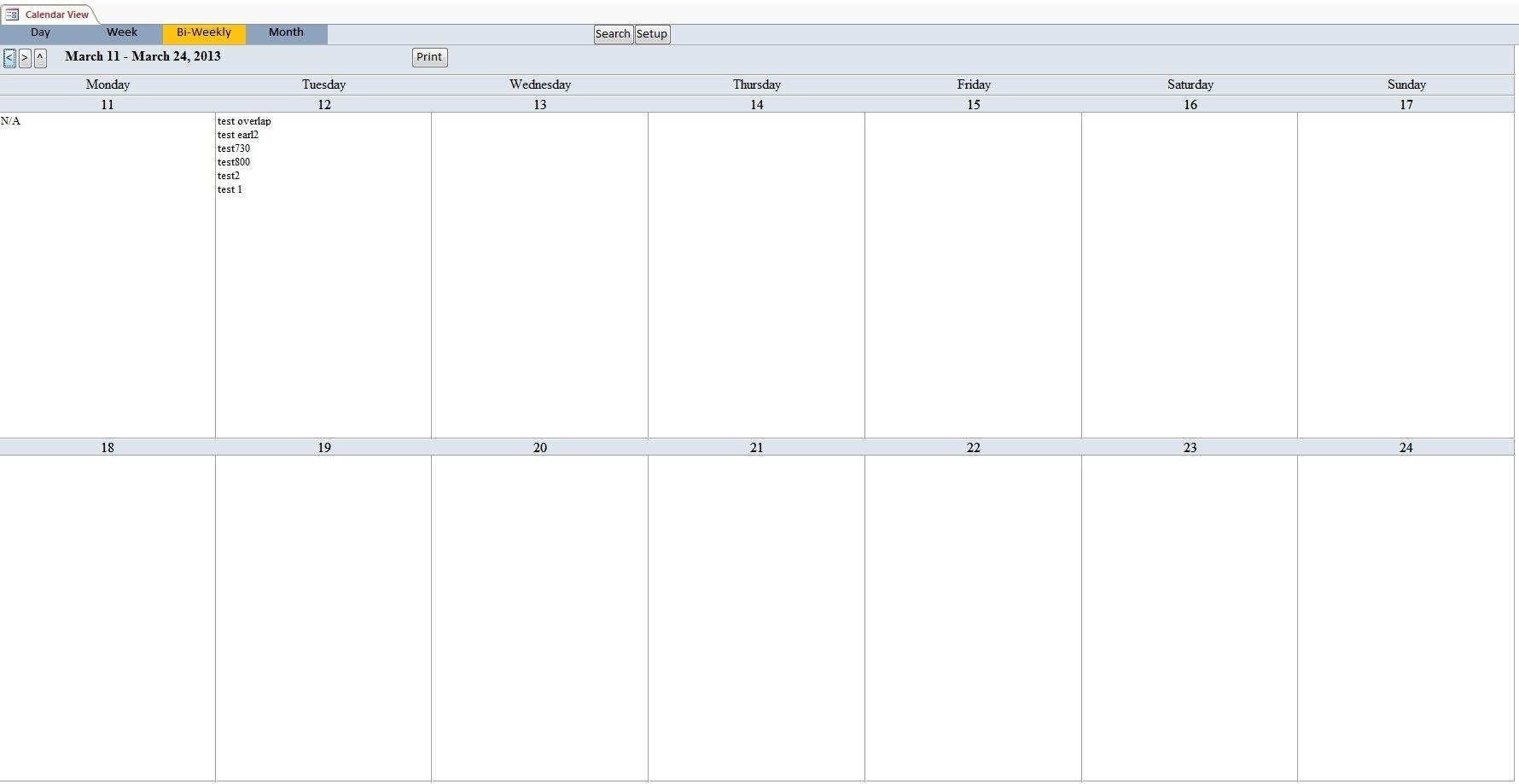 Bi-Weekly+Calendar+Template | Monthly Calendar Template