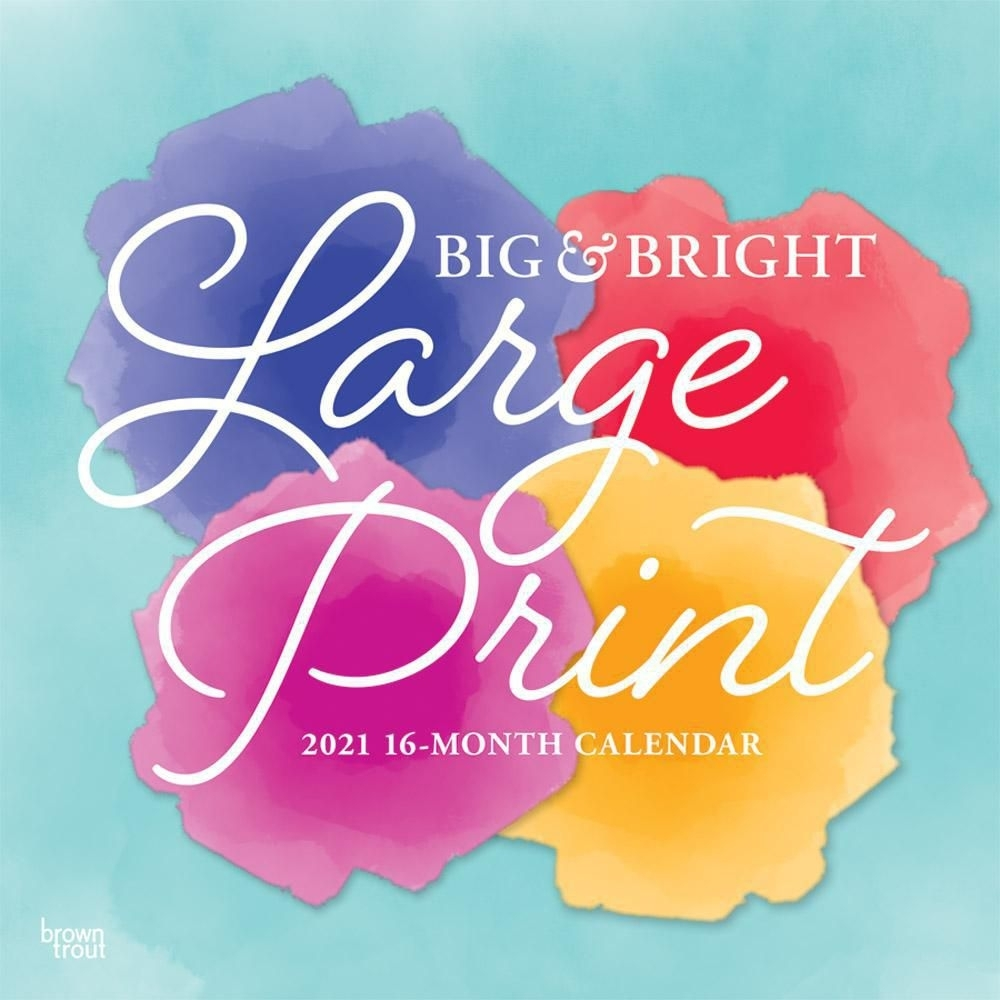 Big & Bright Large Print 2021 12 X 12 Inch Monthly Square Wall Calendar,  Easy To See With Large Font