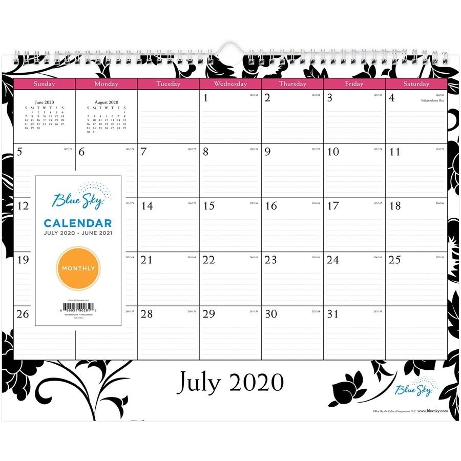 Blue Sky Barcelona Academic Monthly Wall Calendar - Academic