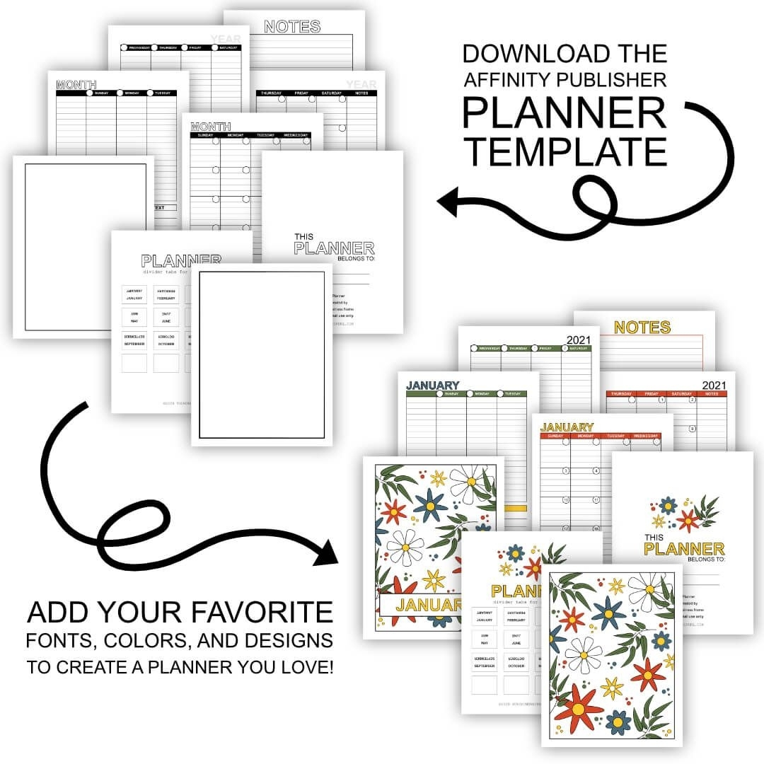 Build A Planner - The Easy Way! In 2020 | Planner Template