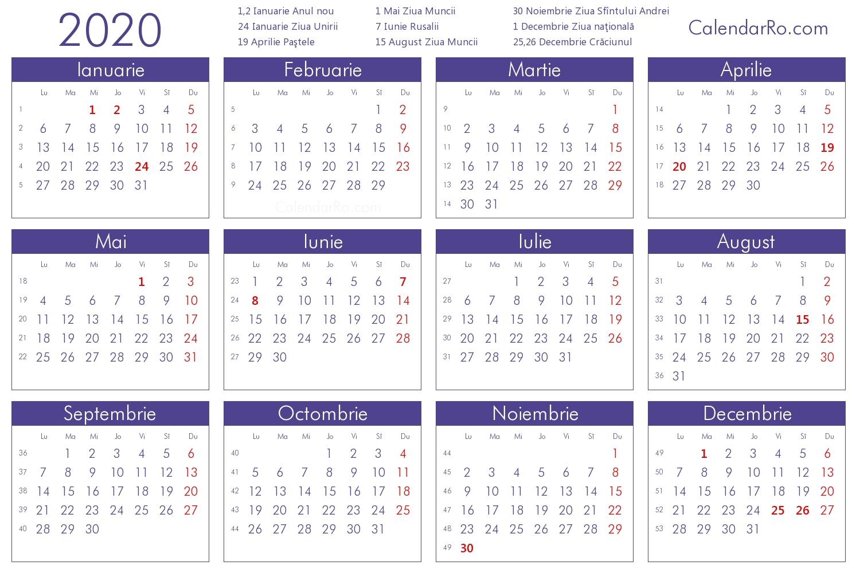 Calendar 2020 Când Cad Floriile Și Paștele, Anul Acesta