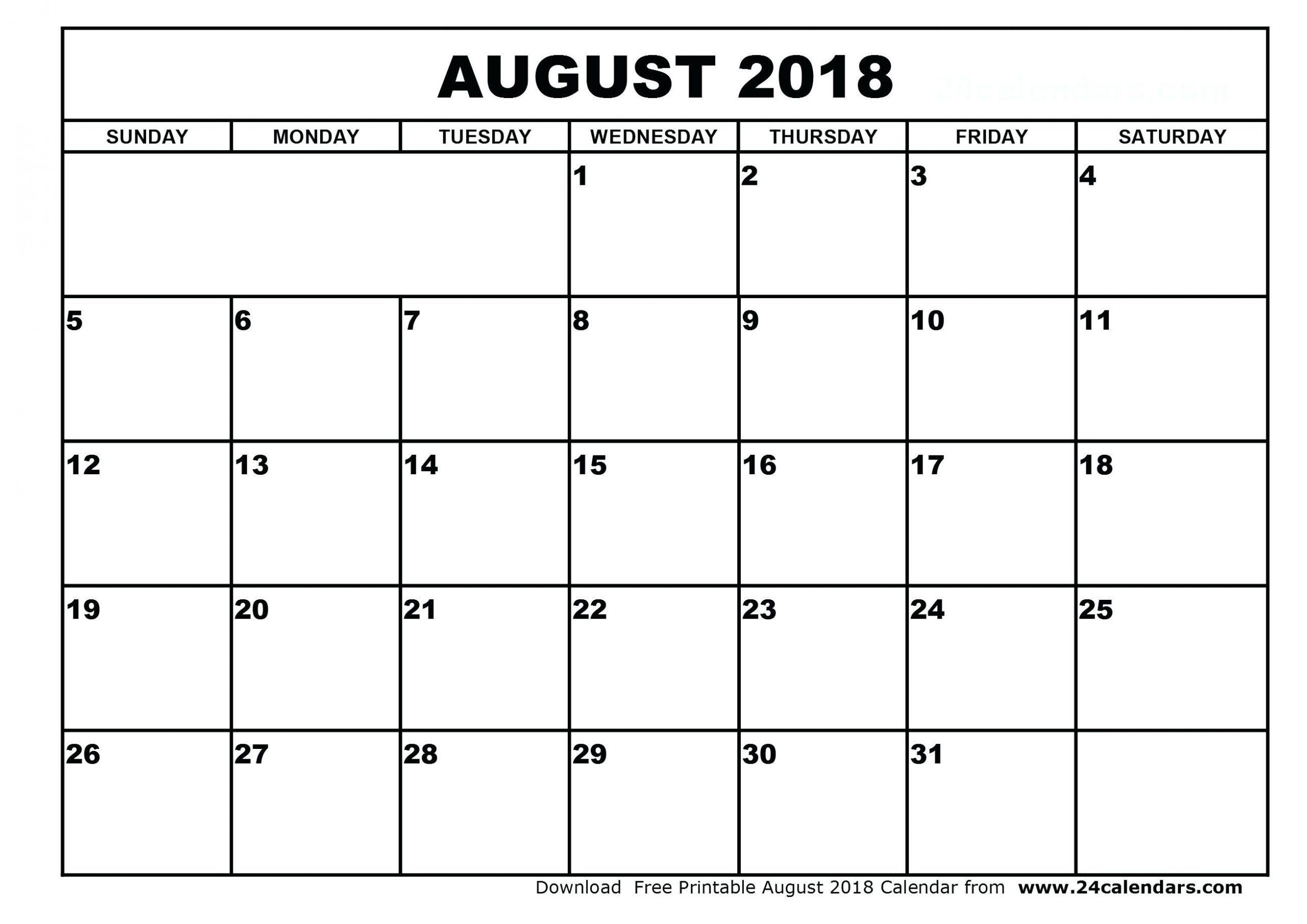 Calendar Template By Vertex42 In 2020 | August Calendar