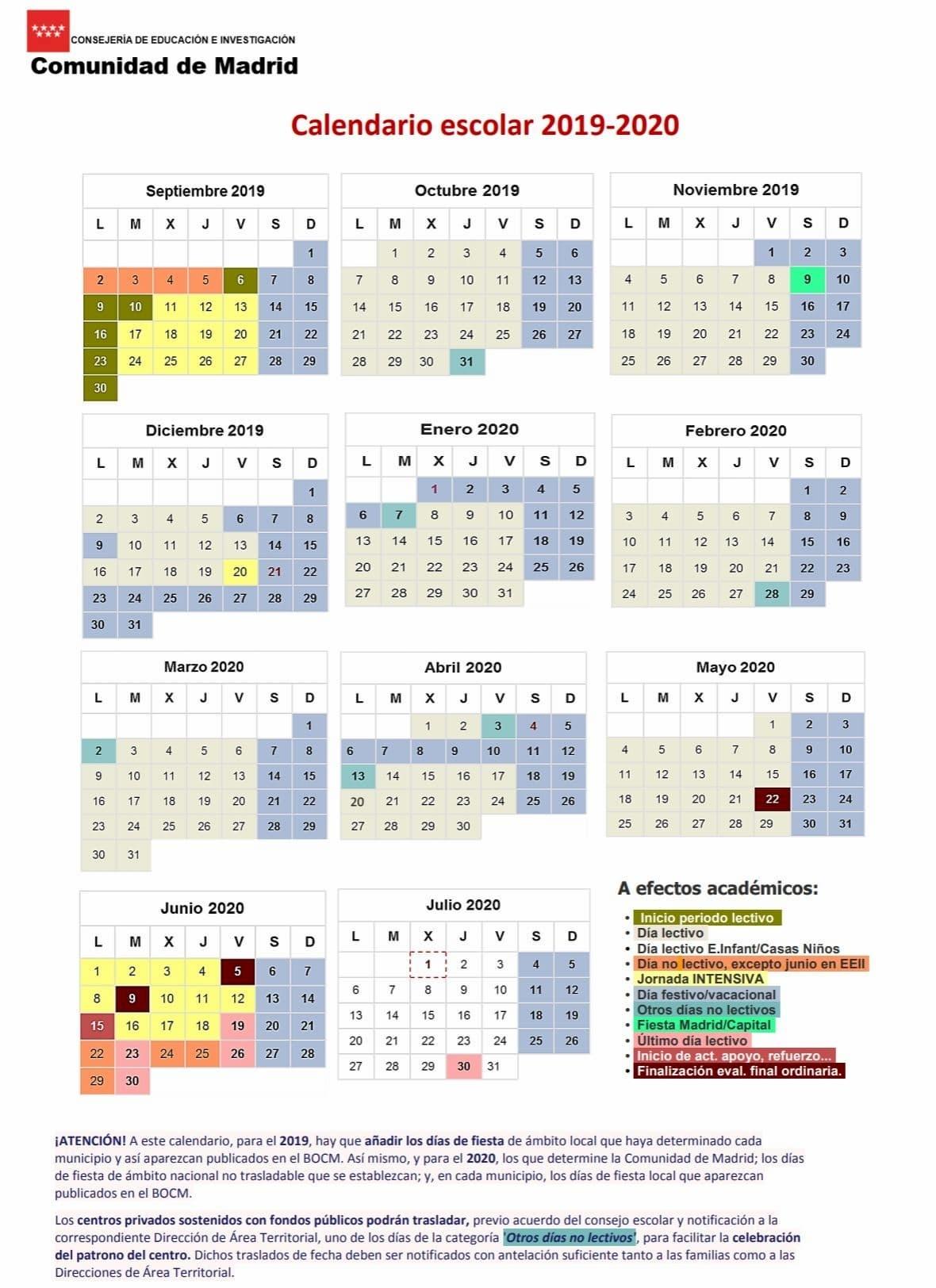 Calendario 2020 Para Imprimir Andalucia - Calendario 2019
