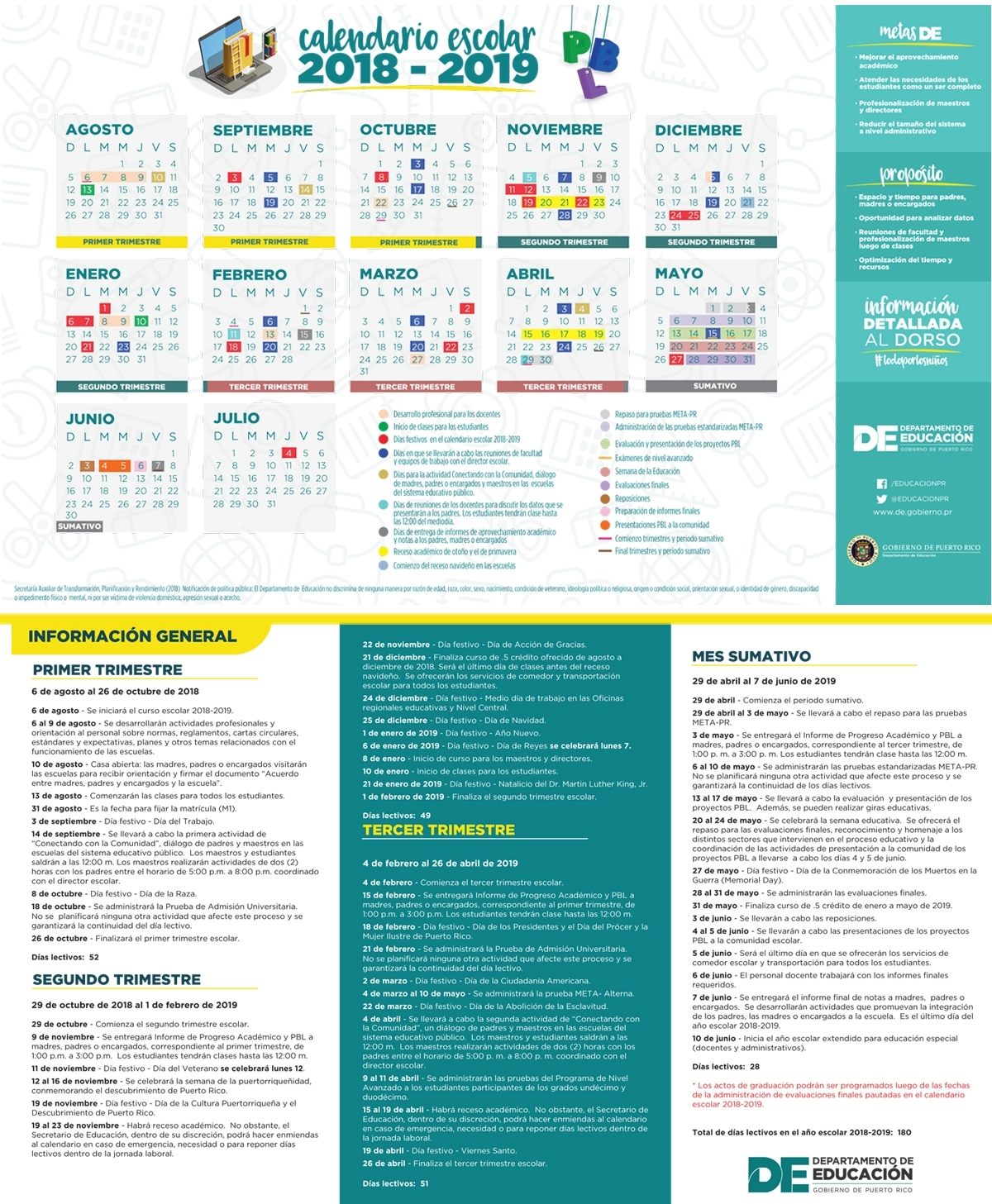 Calendario 2020 Puerto Rico Dias Feriados - Calendario 2019
