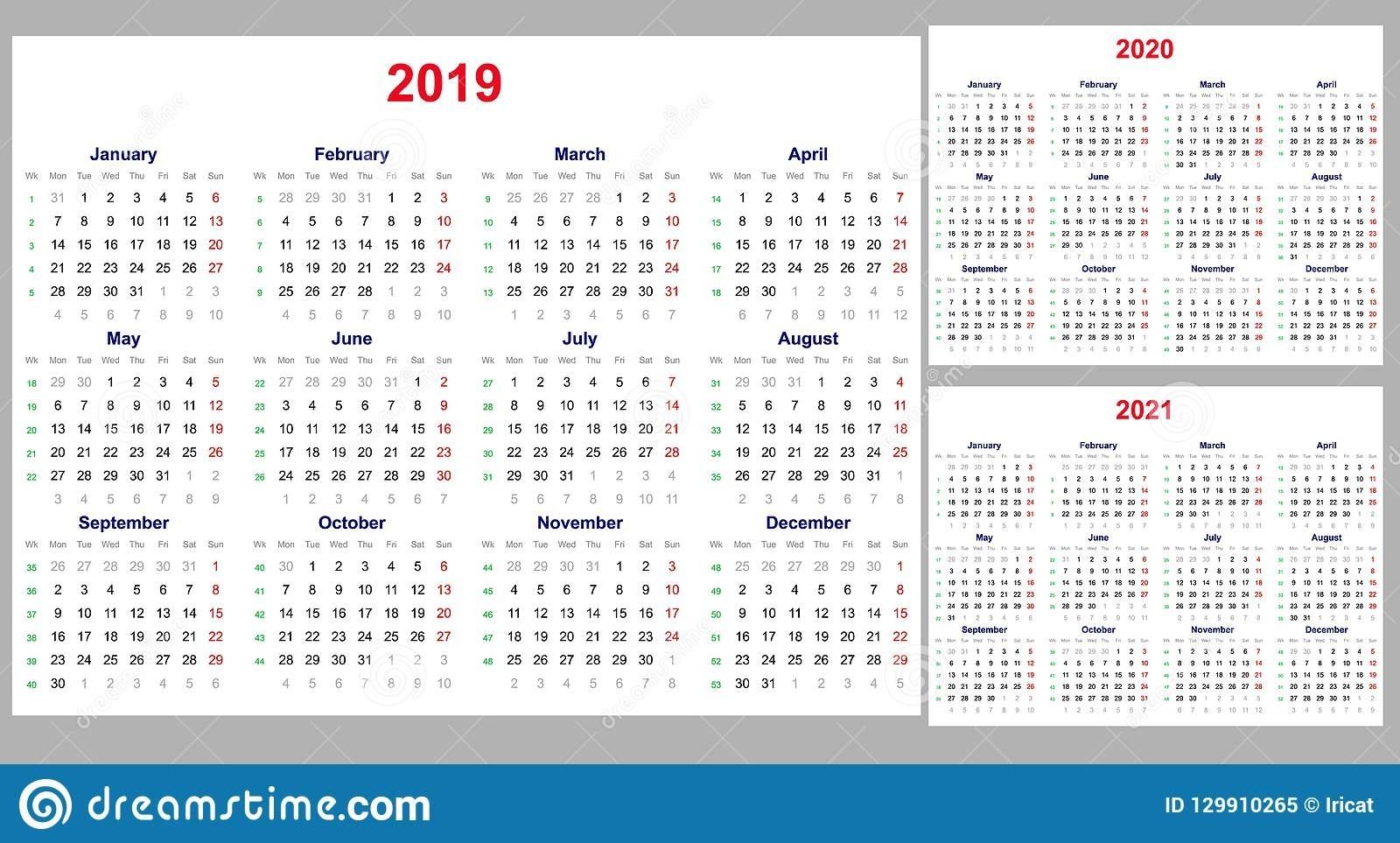 Calendario 2020 X Semanas - Calendario 2019