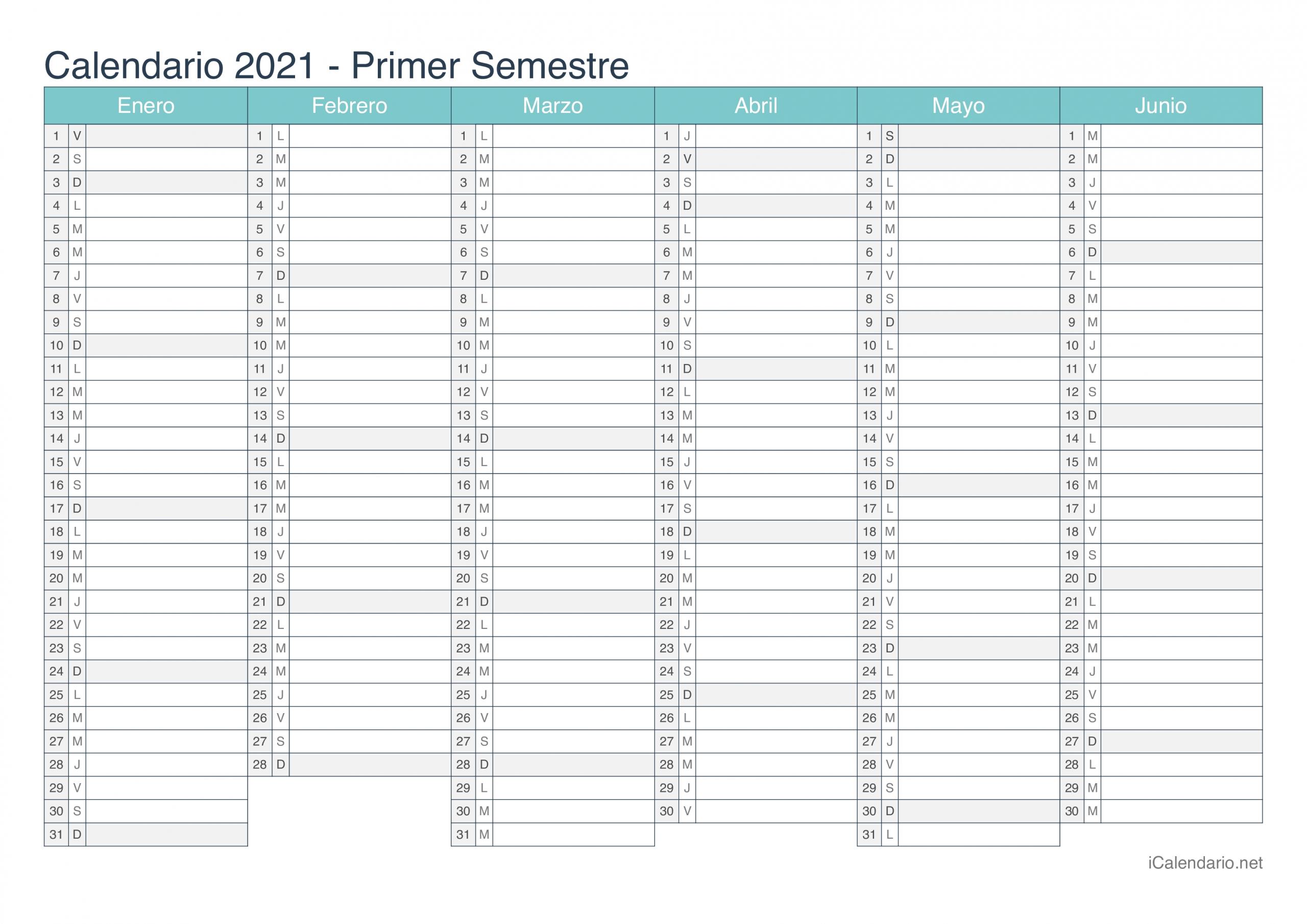 Calendario 2021 Para Imprimir - Icalendario