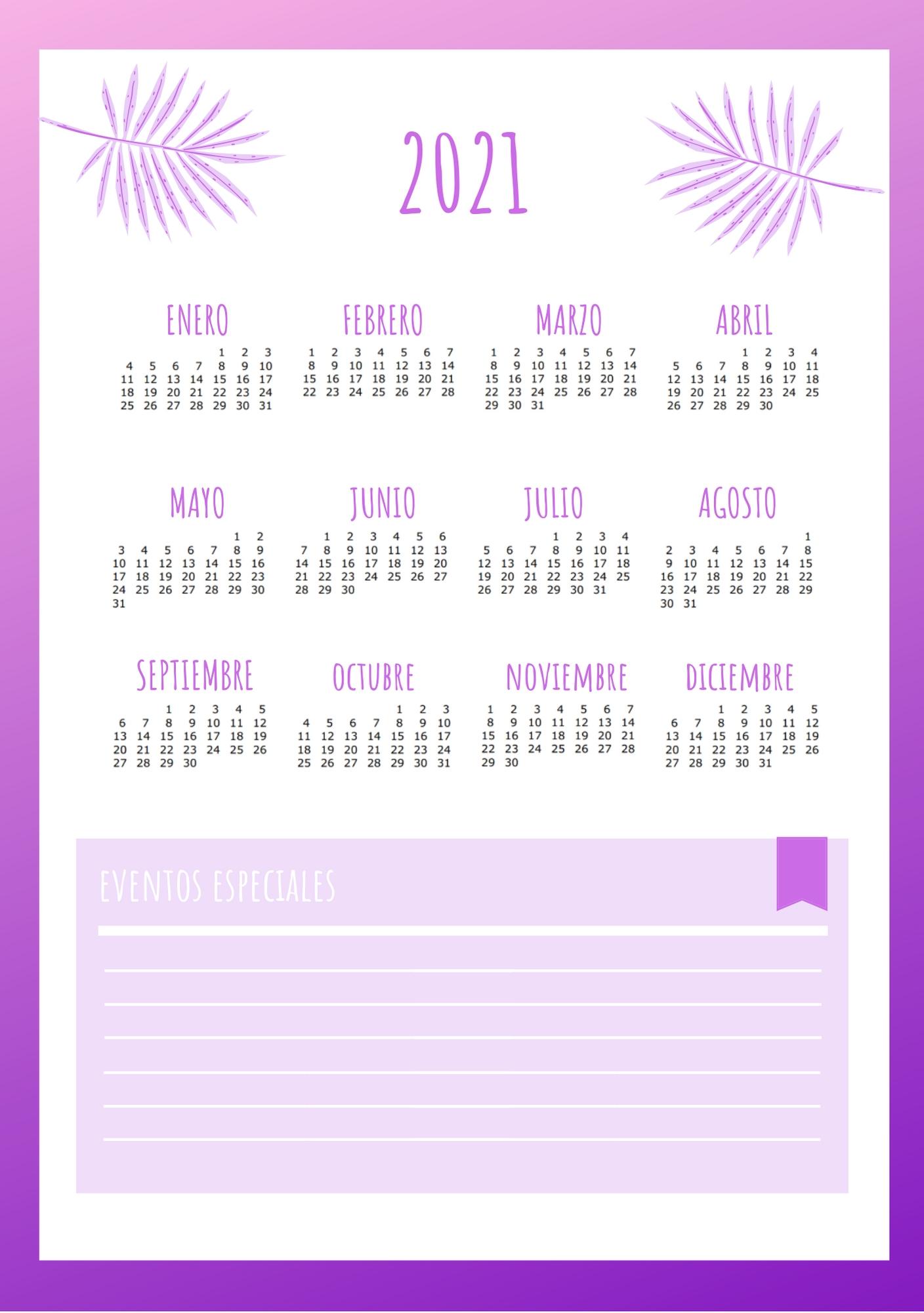 Calendario Agenda 2020 - 2021 | Planificador De Tareas