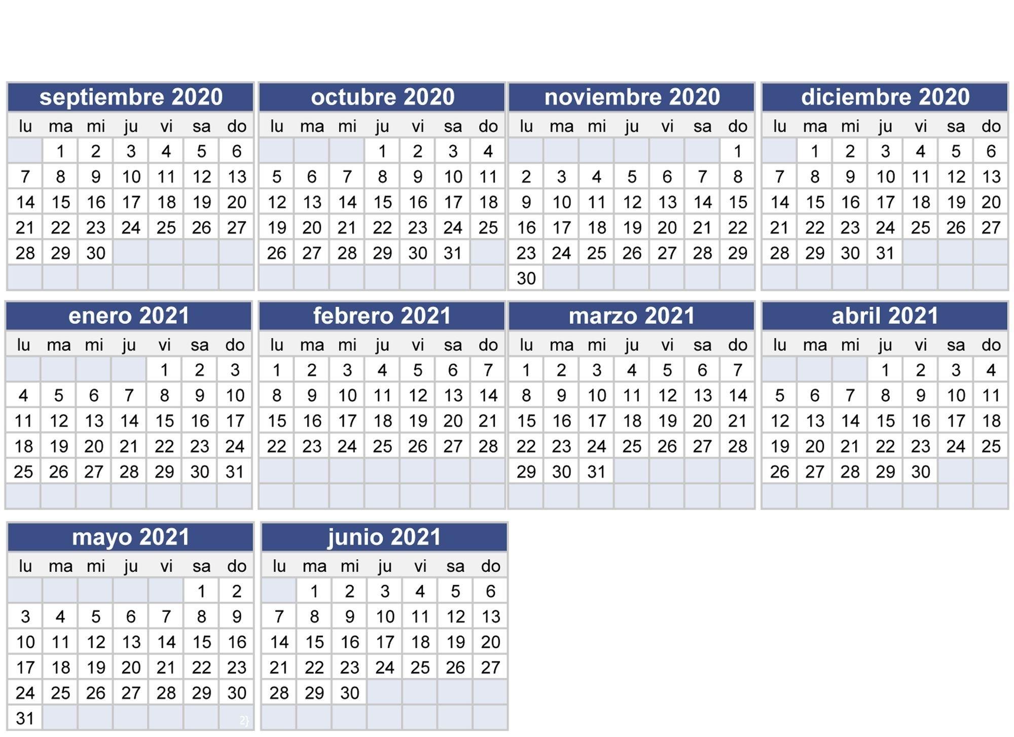 Calendario Escolar 2020-2021 En Sevilla: Fechas Del Inicio Y