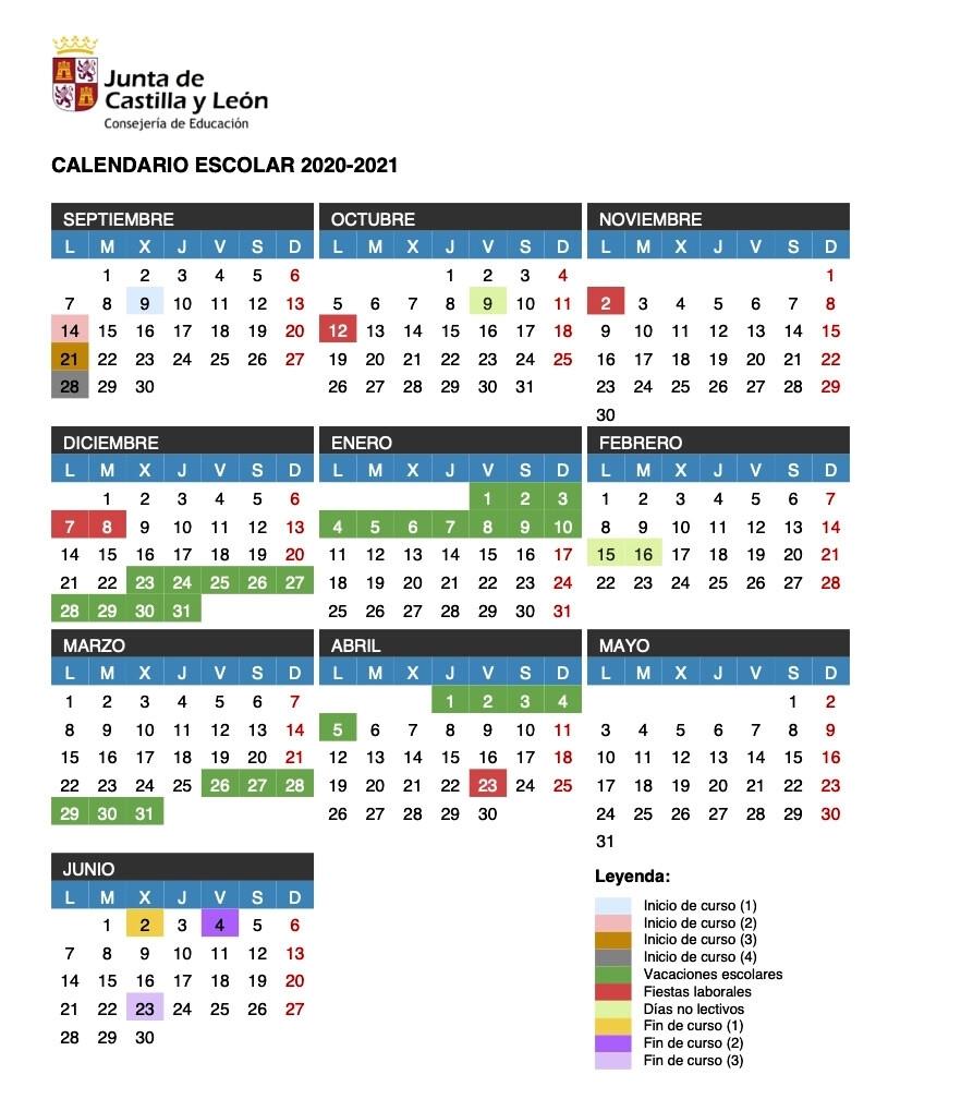 Calendario Escolar Y Protocolos Coronavirus Castilla Y León