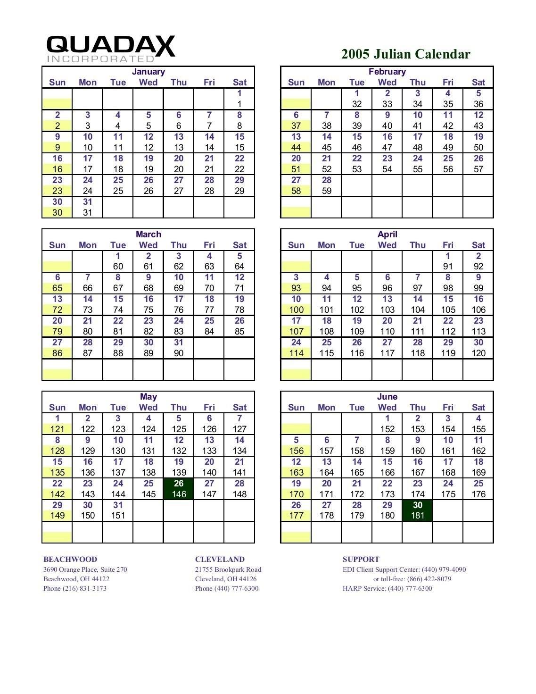 Calendario Juliano 2020 Quadax | Calendar For Planning