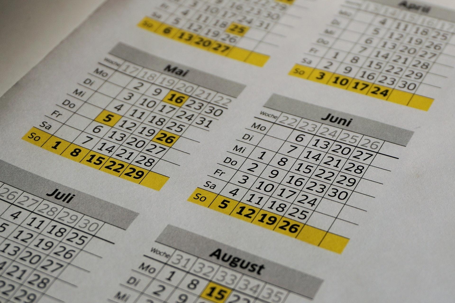 Calendário Juliano - Calendario Do Ano