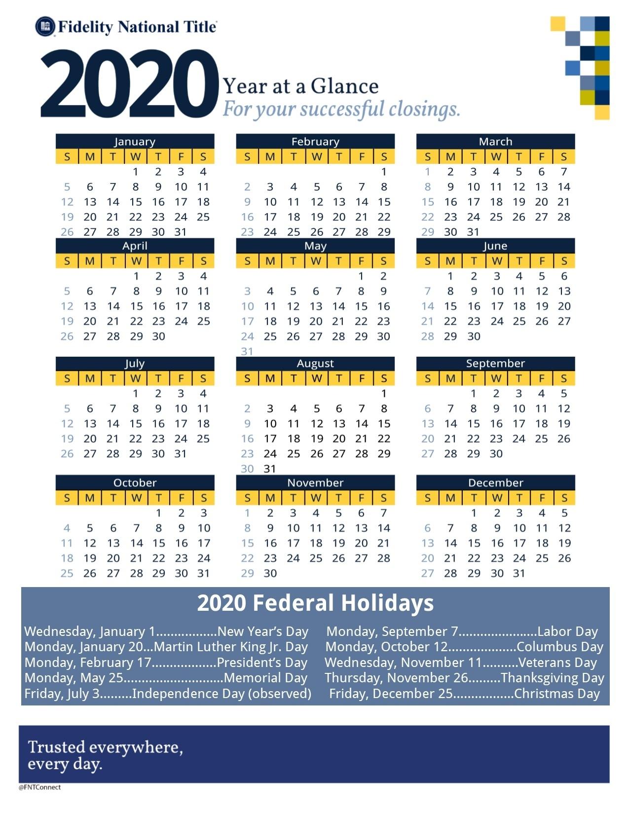 Calendars | Fidelity Southern California