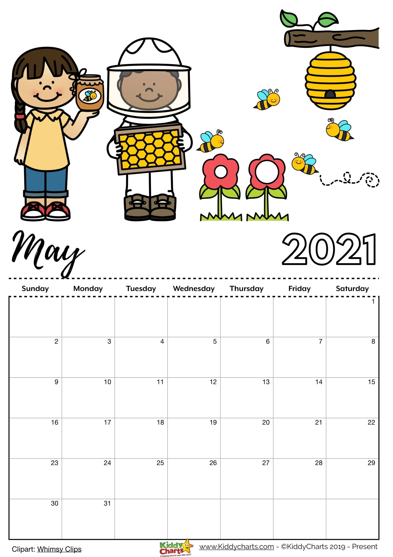 Check Our New Free Printable 2021 Calendar! | Monthly