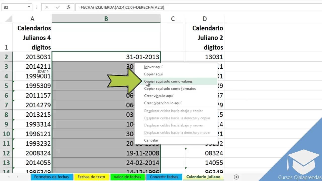 Clase 12 - Convertir Calendario Juliano A Gregoriano