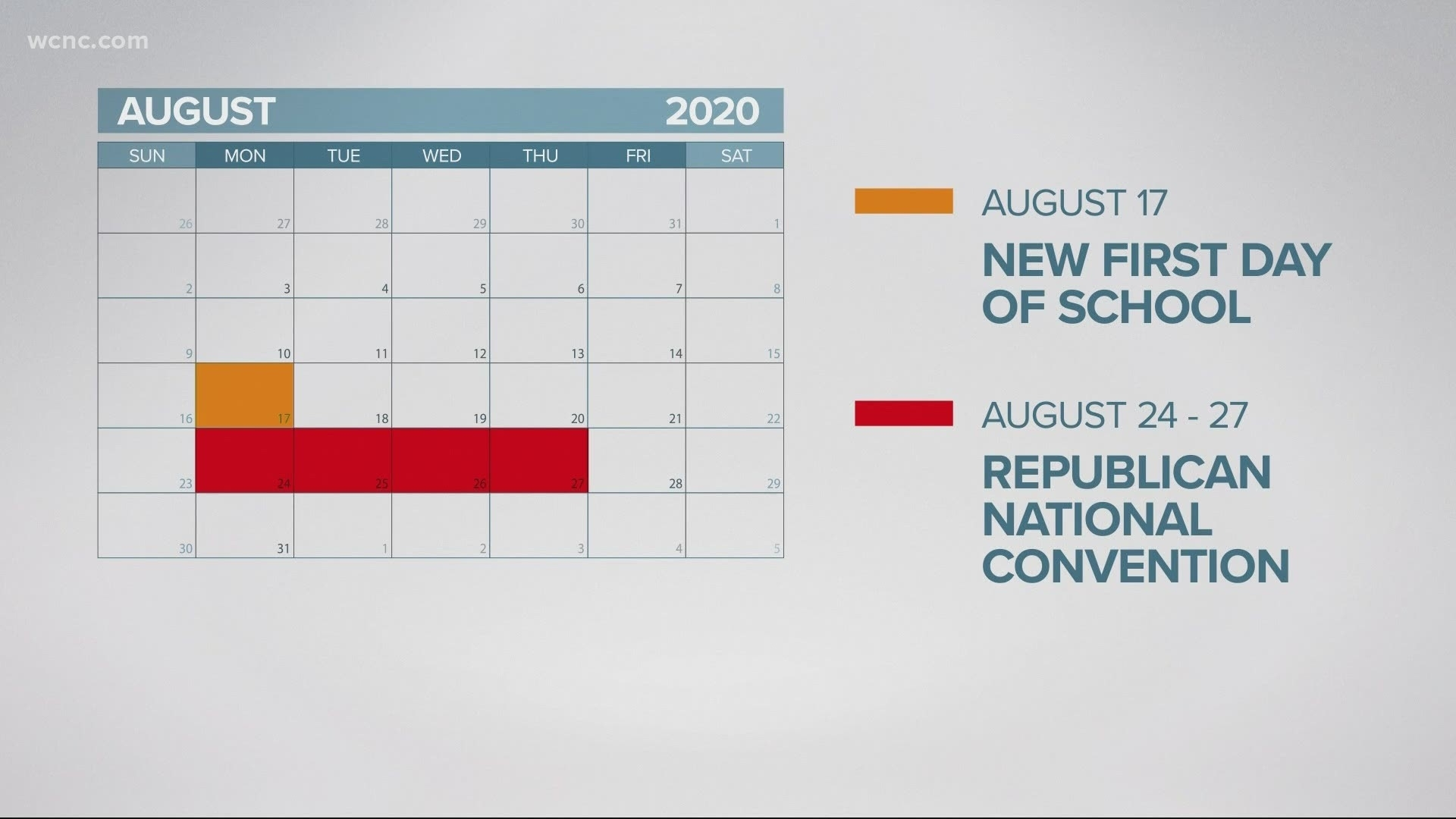 Cms Start Date Moves To August 17, Before The Rnc