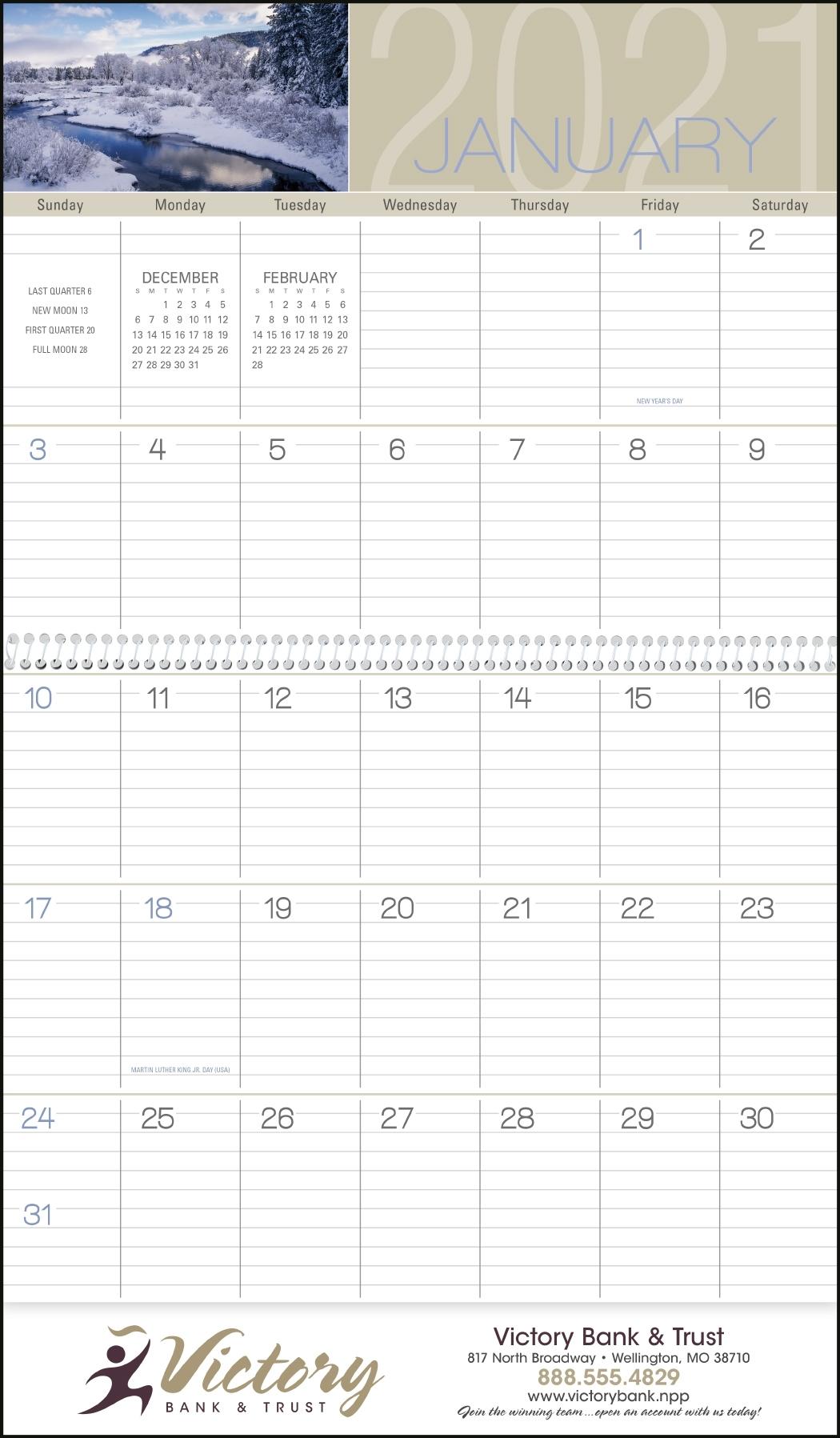 Cn-1701 Scenes Of America (Big Block Memo) - Calendars Now