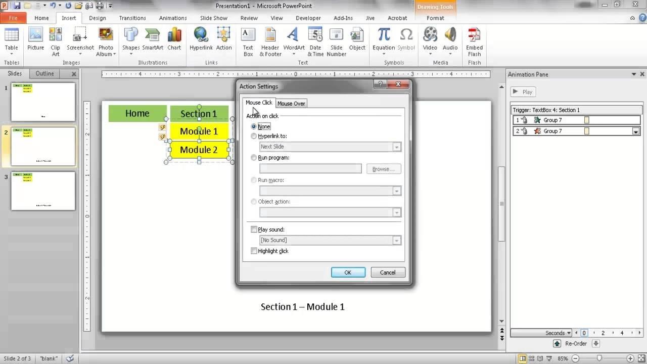 Create A Dropdown Navigation Menu In Powerpoint