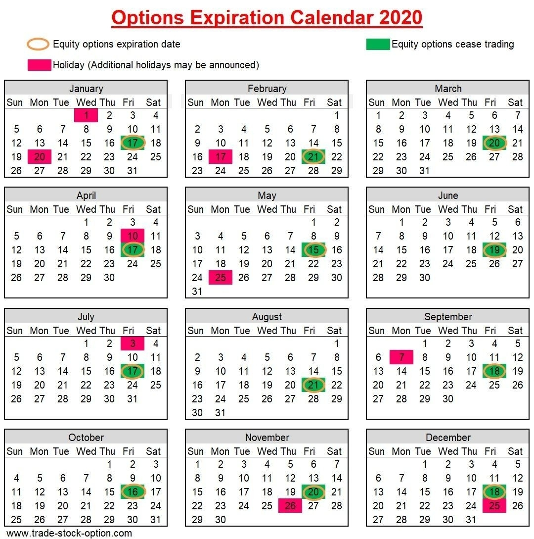 Create Your 28 Day Expiration Date Calendar In 2020