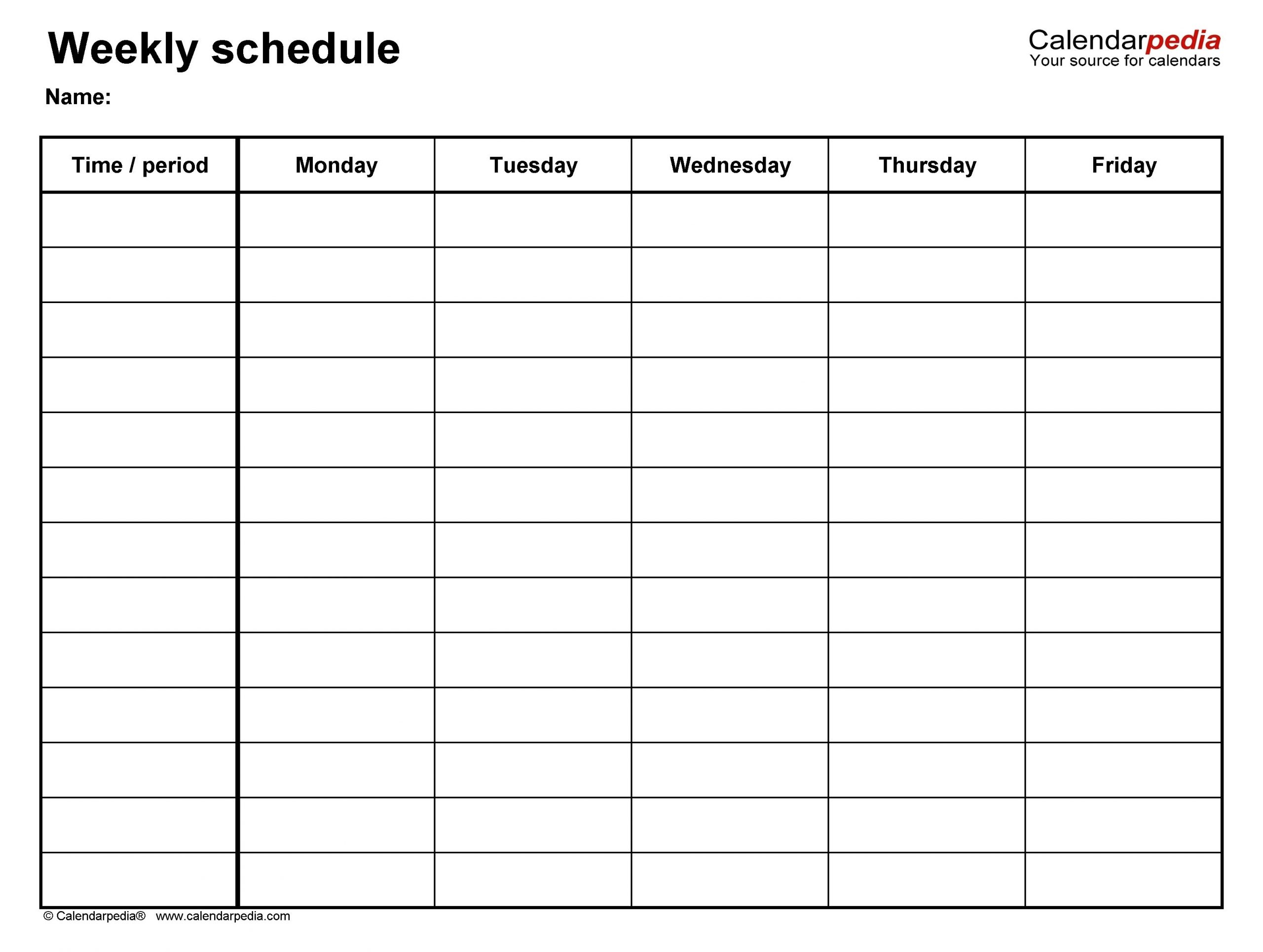 Create Your Free Printable Monday Sunday Schedule In 2020