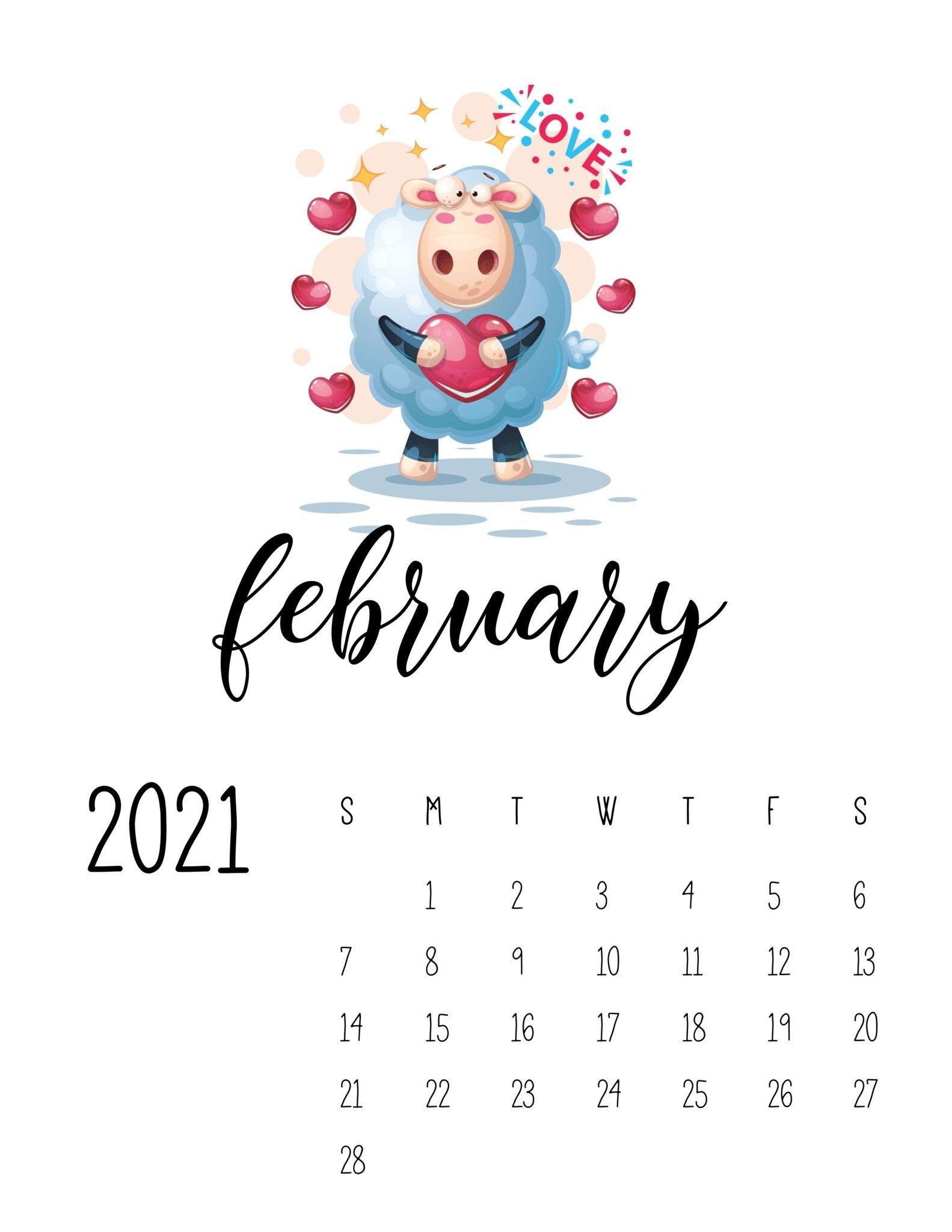Cutest Happy Animals Calendar 2021 - World Of Printables In