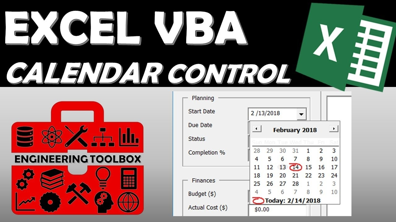 Date Picker Control - Excel Vba Data Entry Userform (Part 4)