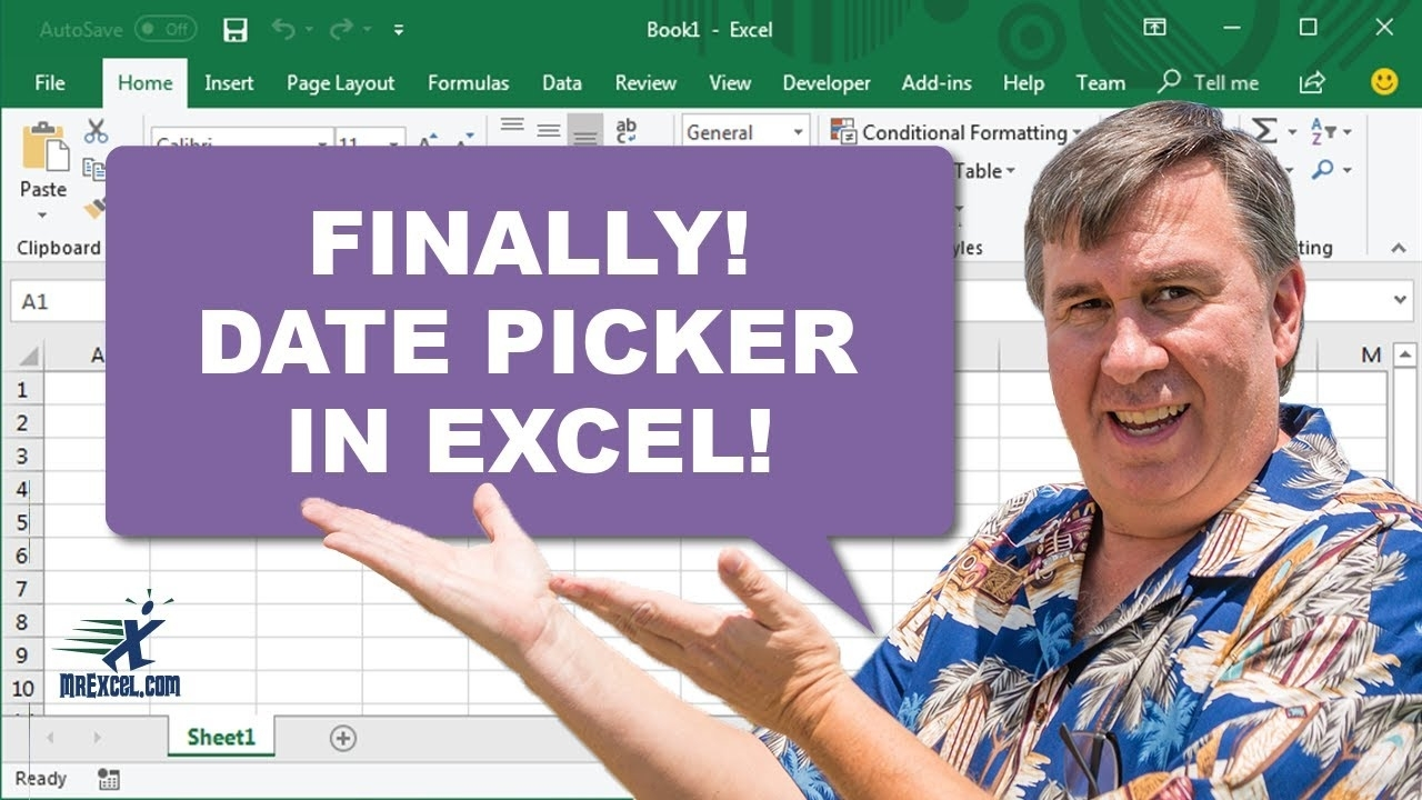 Date Picker In Excel - 2340