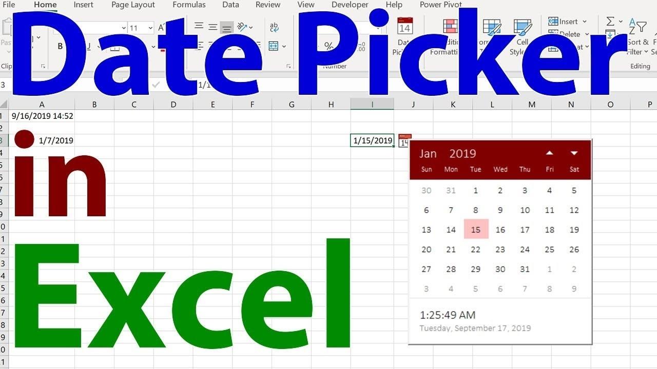 Date Picker In Excel - The Coolest Little Helper In Excel!