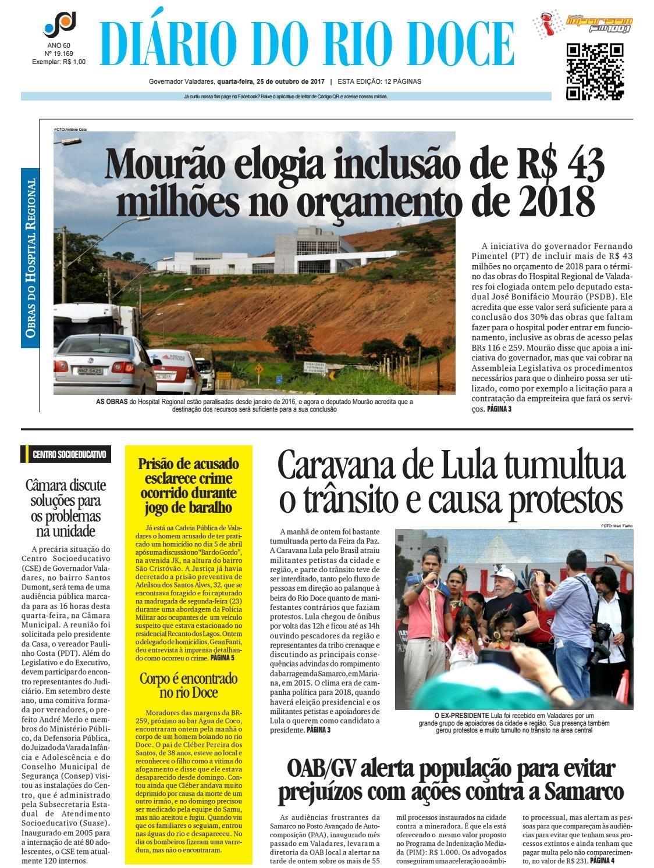 Diário Do Rio Doce - Edição De 25/10/2017 By Diário Do Rio