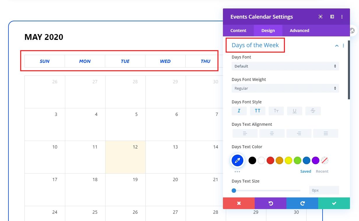 Divi Events Calendar Feature Update 14 | Plugin By Pee-Aye
