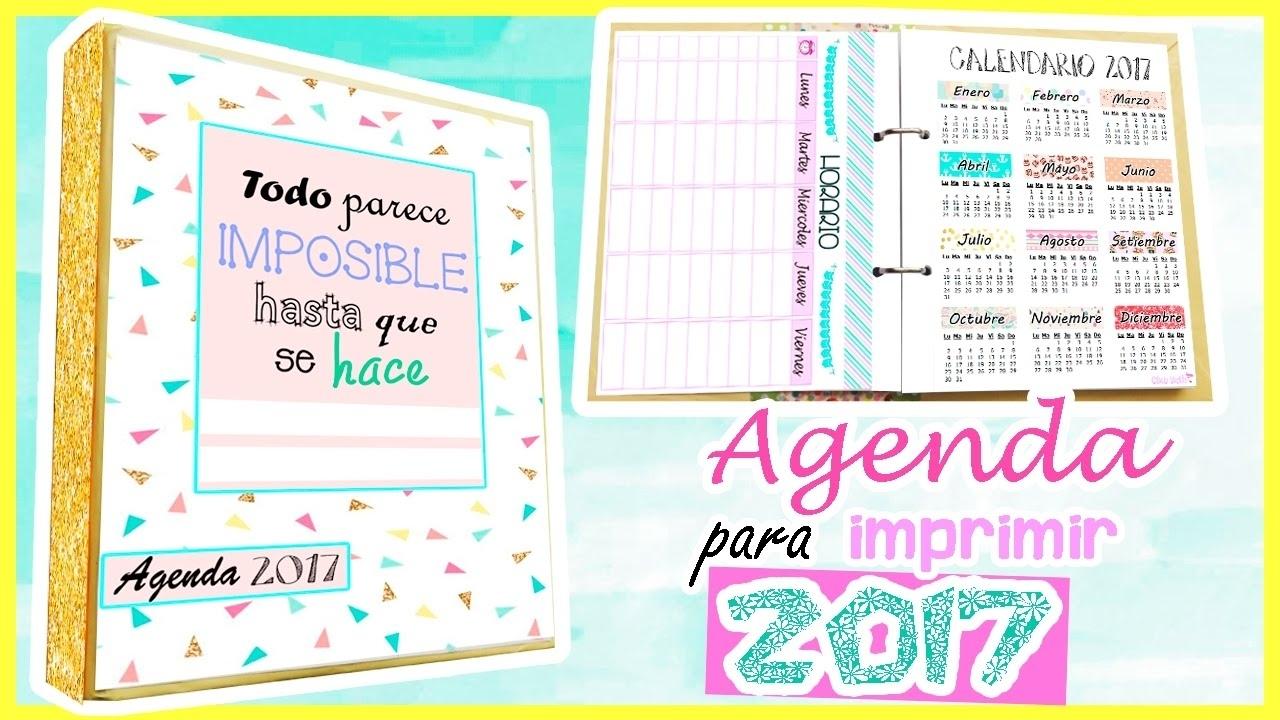 Diy Agenda 2017 Para Imprimir Gratis- Clau Beth