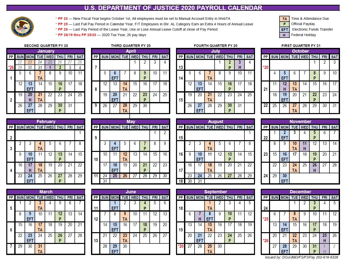 Doj Payroll Calendar 2021   Payroll Calendar