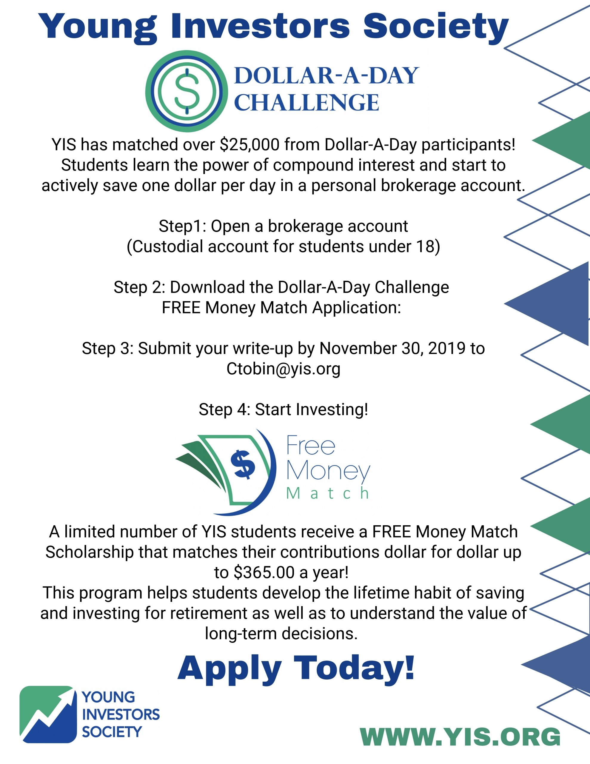 Dollar-A-Day Challenge - Young Investors Society